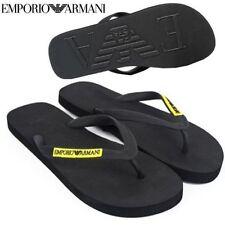 BRAND NEW 100% GENUINE EMPORIO ARMANI MENS BLACK FLIP FLOPS SIZE 9 - 10 SANDALS