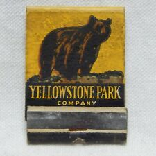 YELLOWSTONE PARK COMPANY, FRONT STRIKE MATCHBOOK