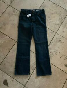NWT Boys The Childrens Place Blue Bootcut Adjustable Waist Blue Jeans Size 12