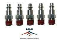 "5 pc 1/4"" Male NPT Air Compressor Hose Quick Coupler Plug Steel New"