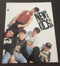 New Kids On The Block 3 Ring 2 Pocket Folder Excellent Condition Nkotb 1990