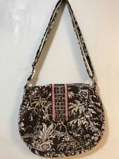 Vera Bradley Imperial Toile Shoulder Bag Purse Brown Beige Pink **Flaws**