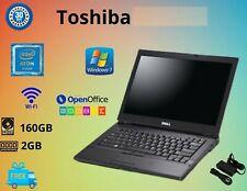 CHEAP TOSHIBA INTEL ATOM 2GB RAM 160GB HDD WIN7 WIFI WEBCAM VGA LAPTOP