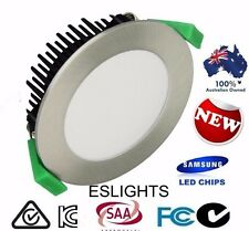 12W SAMSUNG STAINLESS FROSTED 240V DIMMABLE LED DOWN LIGHT DOWNLIGHTS LIGHTING