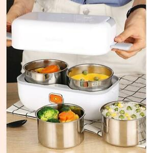 2L Portable Electric Heating Lunch Box Food Warmer Food Container Lunch Box