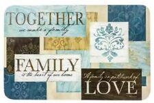 NWT Set of 4 Together Family Love Teal Vinyl Kitchen Placemats Table Decor