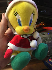 Christmas Daffy Duck Plush---extremely cute --WARNER BROTHERS TAG