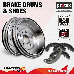 Rear Protex Brake Drums + Shoes for Citroen C3 1.6L Turbo Diesel Bosch