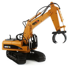 RC Car 2.4G 1:14 RC Excavator 16 Channels Metal Charging RC Car Model Toys New