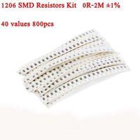1206 SMD Chip Resistors Assortment Kit 0Ω Ohm - 2MΩ Ohm ±1% 40 values 800pcs