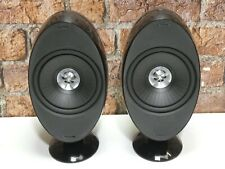 Pair Of KEF HTS KHT 3001SE Gloss Black Surround Sound Home Cinema Loudspeakers
