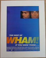 WHAM The Best Of Wham 1997 Music Press Poster Type Advert In Mount