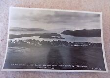 Old Unosted Postcard Tobermory Golf Club Sound of Mull Scotland Writing on back