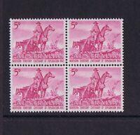 #055L) Australian Pre-Decimal Stamps 1960 5d NT Exploration, Block 4 MNH