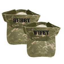 SET OF 2 DIGITAL SUN VISORS ***HUBBY & WIFEY*** HUBBY WIFEY
