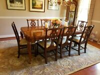 Henkel Harris dining chairs, set of 8, excellent condition. Purchased in 2007