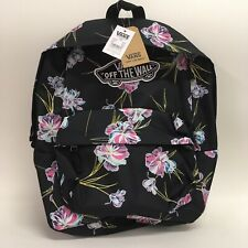 Vans Authentic Realm Floral Paradise Black Backpack School Laptop Bag Rare NEW