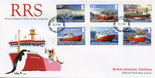 British Antarctic T BAT 2017 RRS Research Ships Shackleton 6v Cover Boats Stamps