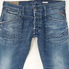 Mens Replay M945 SKAR Straight Blue Jeans W36 L30
