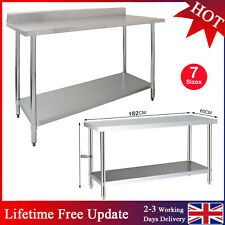 More details for stainless steel commercial catering table work bench worktop food prep kitchen