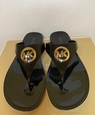 New - Women's Michael Kors Lillie Jelly Thong PVC Black Sandals Size 10