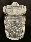 """Waterford Crystal """"Castlemaine"""" Mustard/Jelly W/Lid Made in Ireland"""