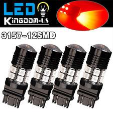 4X Red 3157 500LMS High Power 7W Tail Brake Stop Backup Reverse LED Light Bulbs