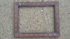 cadre bois sculpté feuillure 32 x 24 cm ancien art nouveau fleur frame