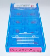 (10) LPGT010210ER-GM PR1535 KYOCERA MILLING INSERTS FOR MFH RAPTOR MICRO
