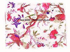 5/10 Yd Indian Red Bird Print Hand Block Print Cotton Fabric Dressmaking Sewing