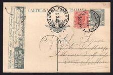 STORIA POSTALE Regno 1921 Intero Postale 15c Profumi Treves USATO (FM6)