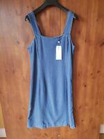 RRP £140 - KACHEL DENIM DRESS Blue Summer Shift 100% Lyocell UK 12 / 40 - NEW