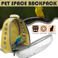 Pet Parrot Bird Carrier Travel Bags Space Transparent Animal Backpack Breathable