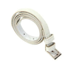 Ladies Skinny PU Leather Belt Dress Belt - creamy-white Q1T6