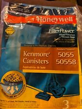 KENMORE CANISTER VACUUM BAGS (3) 5055 & 50558 HONEYWELL FILTER POWER Filtration