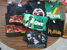 COOL LOT OF 9 VINTAGE KIDS' ROCK N ROLL T-SHIRTS DEFLEPPARD LINKINPARK STAR WARS