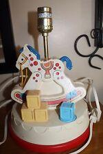 Vintage Fisher Price Rocking Horse Lamp Night Light Music Box 1984 Musical Works