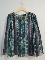NWT Mossimo Women's Blouse Multi-Color Wide Sleeve Round Neck. Size M