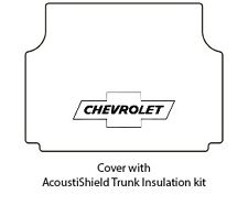 1958 Chevrolet Station Wagon Trunk Rubber Floor Mat Cover with G-010 Chev Bowtie