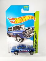 HOT WHEELS WORKSHOP SERIES '55 CHEVY BELAIR GASSER #241 NEW NOC WITH PROTECTO