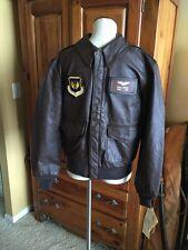 Brand New! Cooper Saddlery A-2 Flight USAF Bomber Leather Goatskin Jacket 38R 💎