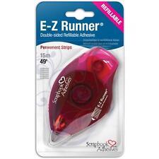 Scrapbook Adhesives E-Z Runner Permanent Dispenser #1200 Strips Refillable