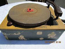 Vintage Trav-ler Childrens Record Player Phonograph Model 7036~Works!
