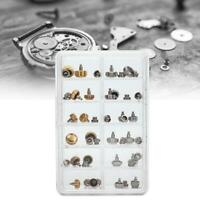 40PCS Watch Crowns Watch Waterproof Mixed Gold Replacement Assorted Repair Tools