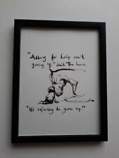 CHARLIE MACKESY FRAMED BOOK EXTRACT. 'THE BOY, THE MOLE, THE FOX AND THE HORSE