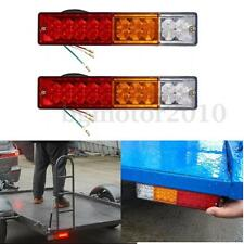 2x 20 LED Stop Rear Tail Reverse Light Turn Indicator Lamp Truck Trailer Caravan