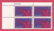 U.S. SCOTT 1372, MNH 6 CENT PLATE BLOCK OF 4 - 1969 - W C HANDY