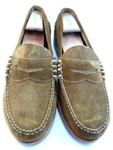 "NEW Allen Edmonds ""SEA ISLAND"" Slip-On Suede Loafers 10.5 D Tan (662)"