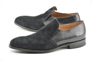 NEW | FOSTER & SON 11E BLACK SLIP ON BLACK TWO TONE DAINITE SOLE DRESS SHOES