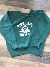 Vintage 50's Champion Crewneck Sweatshirt XS Pine Lake Camp Youth L